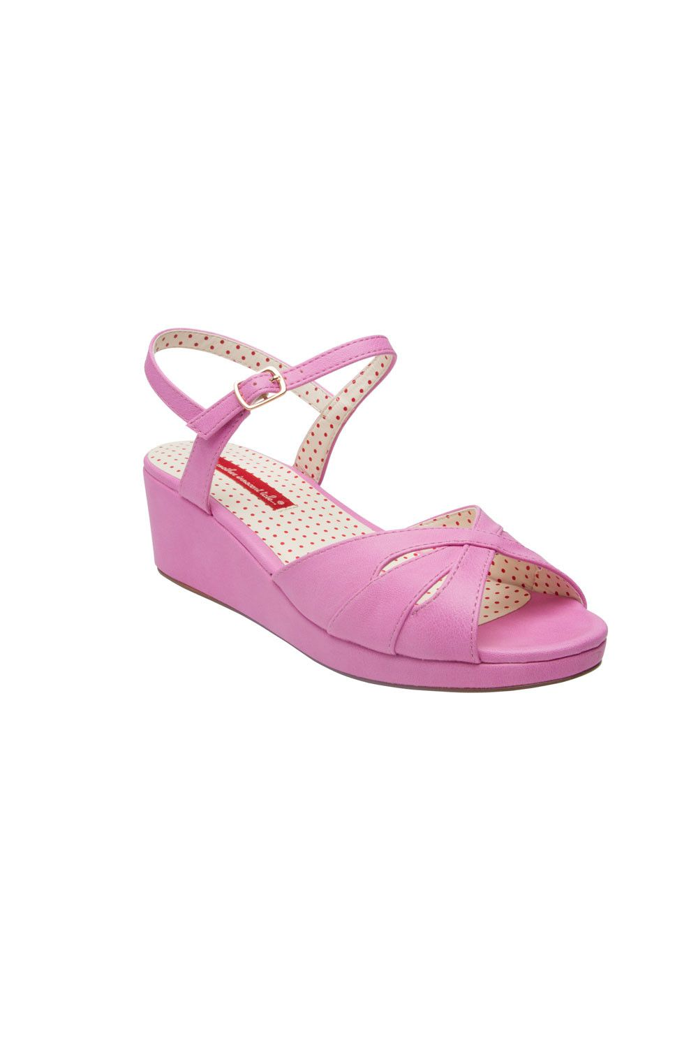 afdbfbeea46 Kiki Wedge in Cotton Candy Pink - Shoes   Pinup Girl Clothing ...