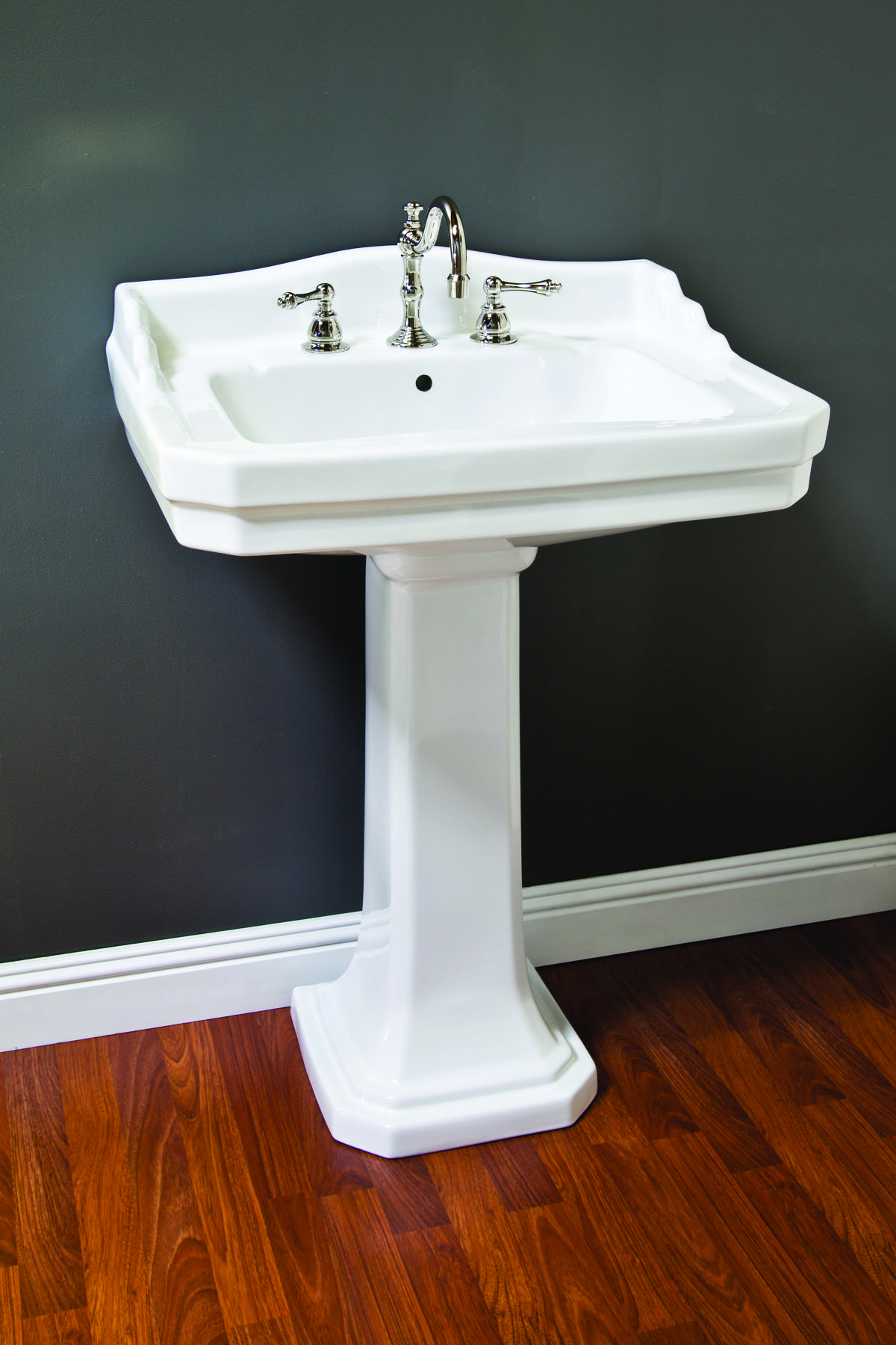 Too wide. PORCELAIN DECO PEDESTAL SINK | Strom Plumbing by Sign of ...