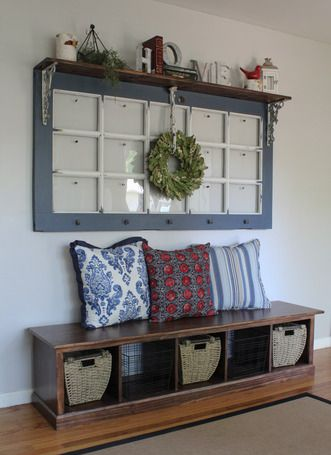 Turned An Old French Door Into A Picture Frame Going To Do This