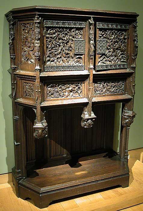 France Fin Du Xve Siecle Flandre Fin Du Xve Siecle Dressoir Chene H 1 62 M L Renaissance Furniture Gothic Furniture European Furniture