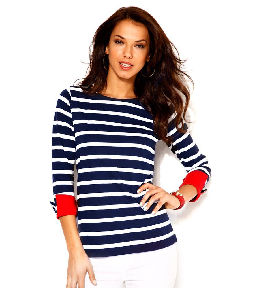 Camiseta mujer rayas marineras