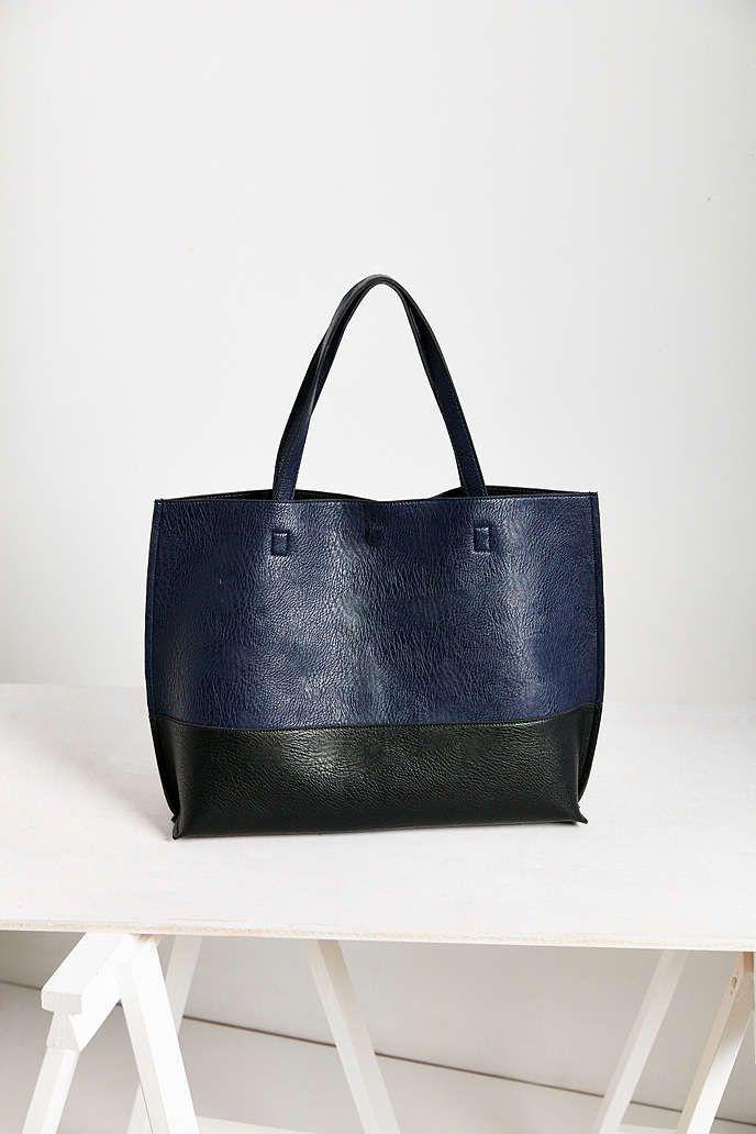 Reversible Vegan Leather Tote Bag Urban Outers