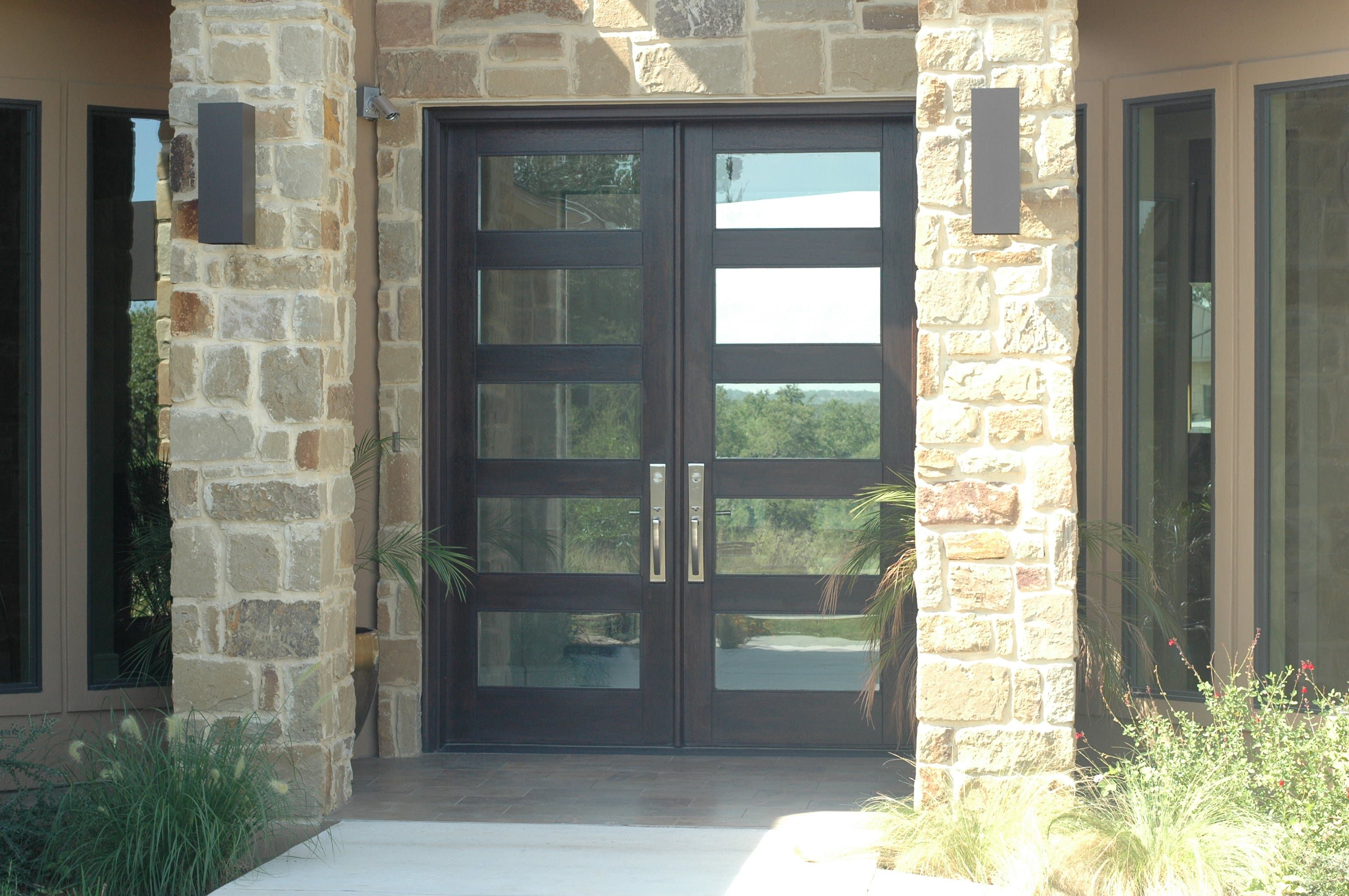 Modern Wood Door 8ft Rubi Double Entry