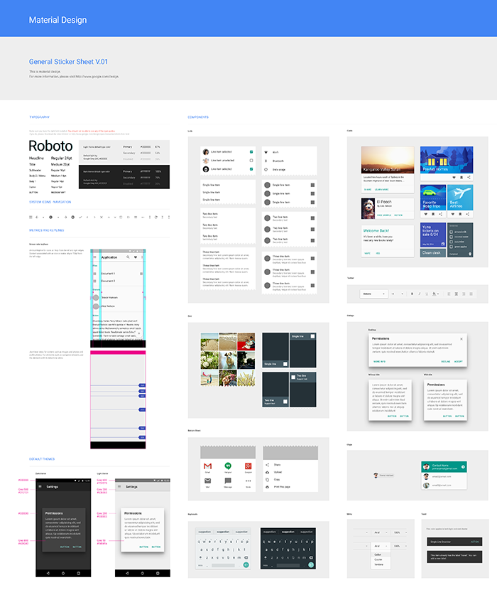 Official Material Design UI components for Photoshop