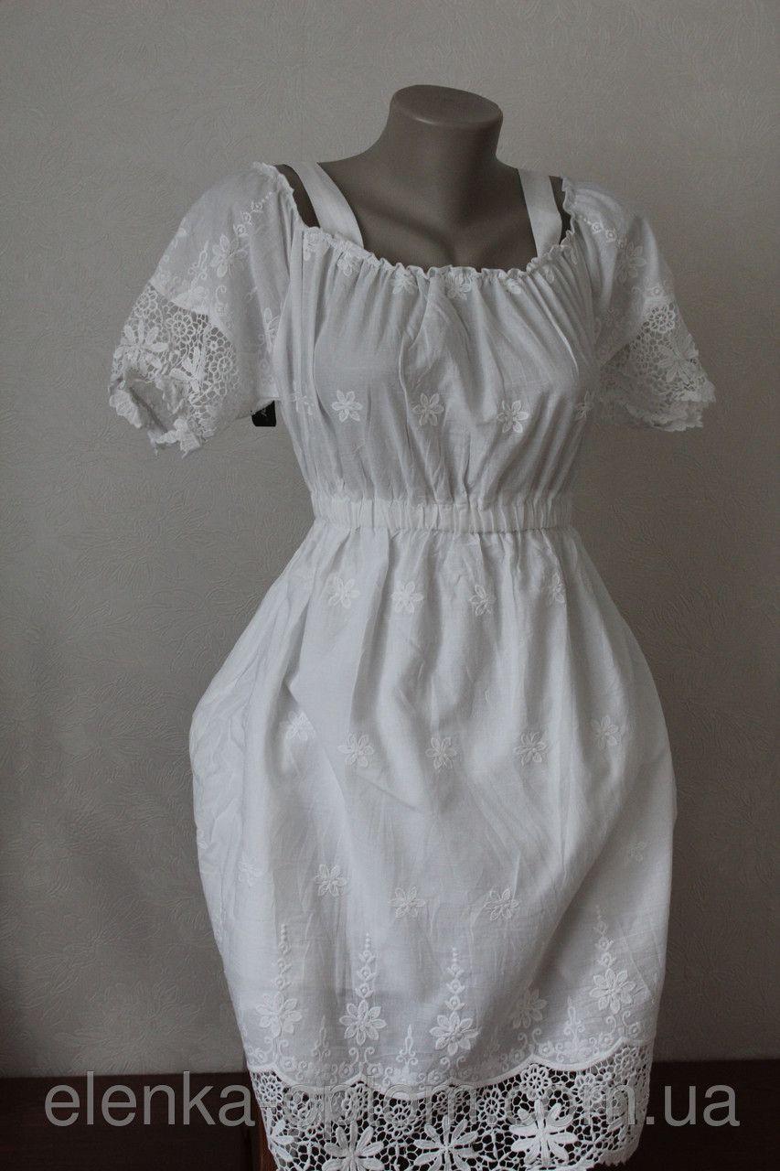 88d328deb23 Сарафан белый с кружевом - Elenka - женская одежда оптом  юбки и сарафаны  женские
