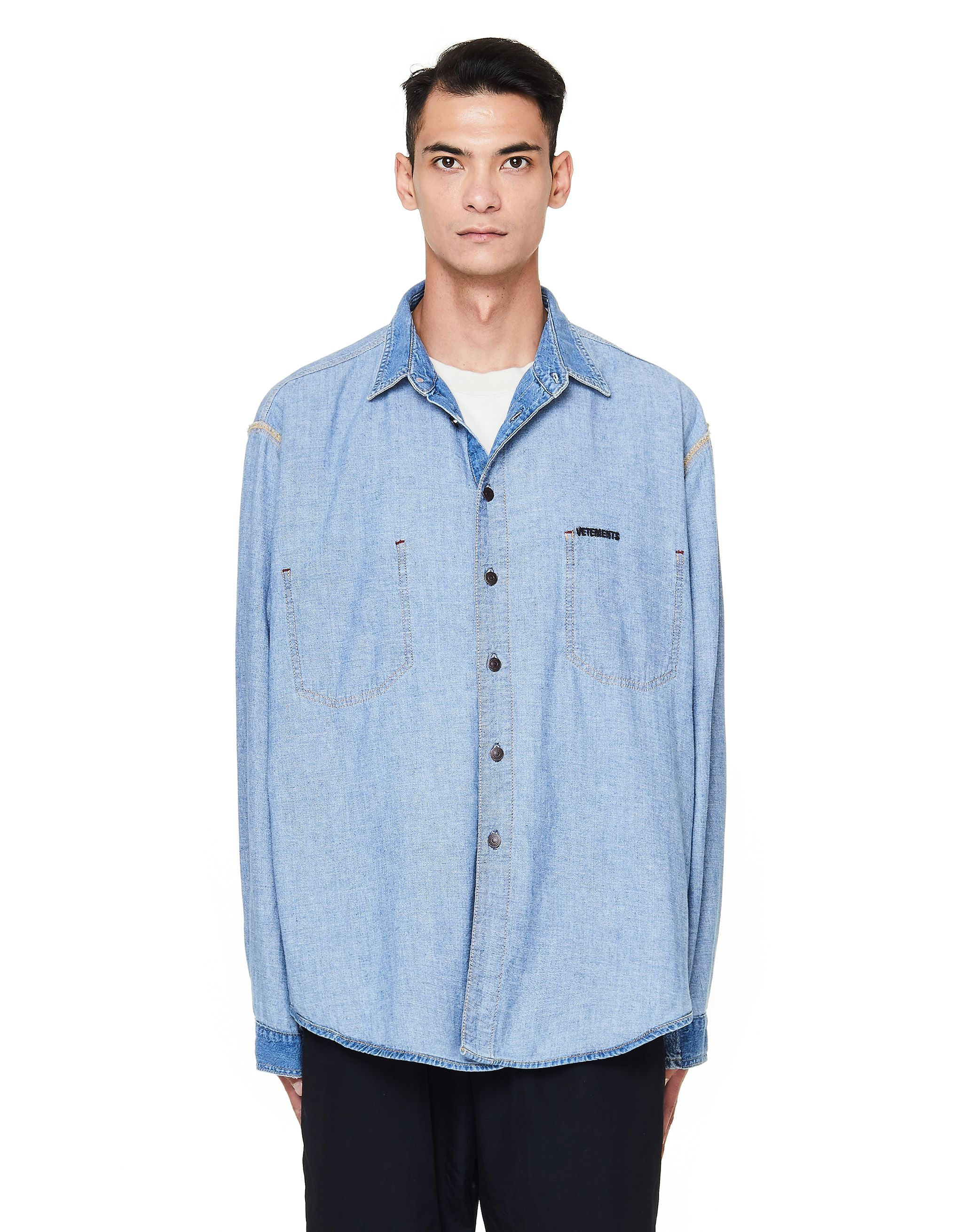 d426b256031 VETEMENTS BLUE OVERSIZED DENIM SHIRT.  vetements  cloth