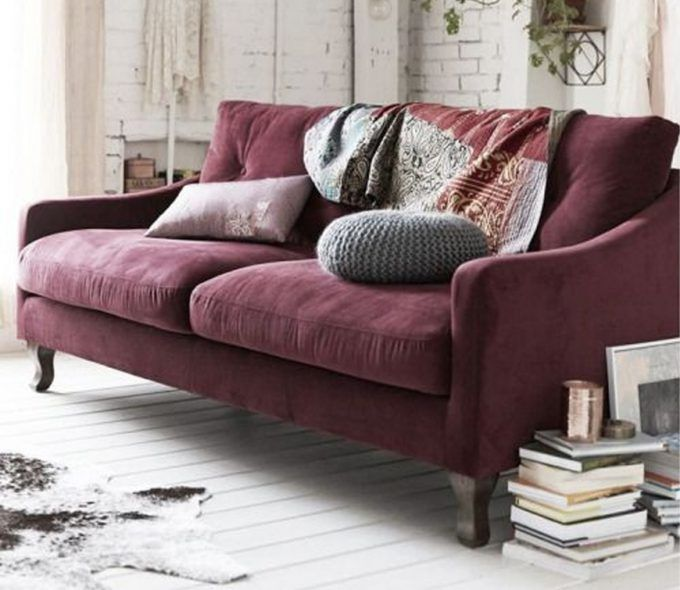 Wohnzimmer Trends 2017: Samt Sofas | Living rooms, Purple couch and ...