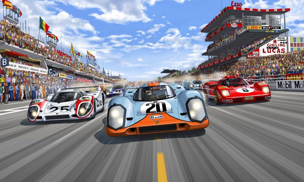 Steve McQueen in Le Mans\' Graphic Novel
