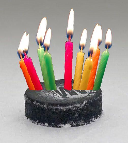 Hockey Puck Bday Cake Med Hockey Birthday Birthday Favorites Happy Birthday