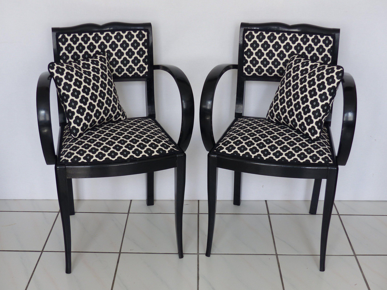 paire de fauteuils bridge vintage 1920 art-deco - entièrement