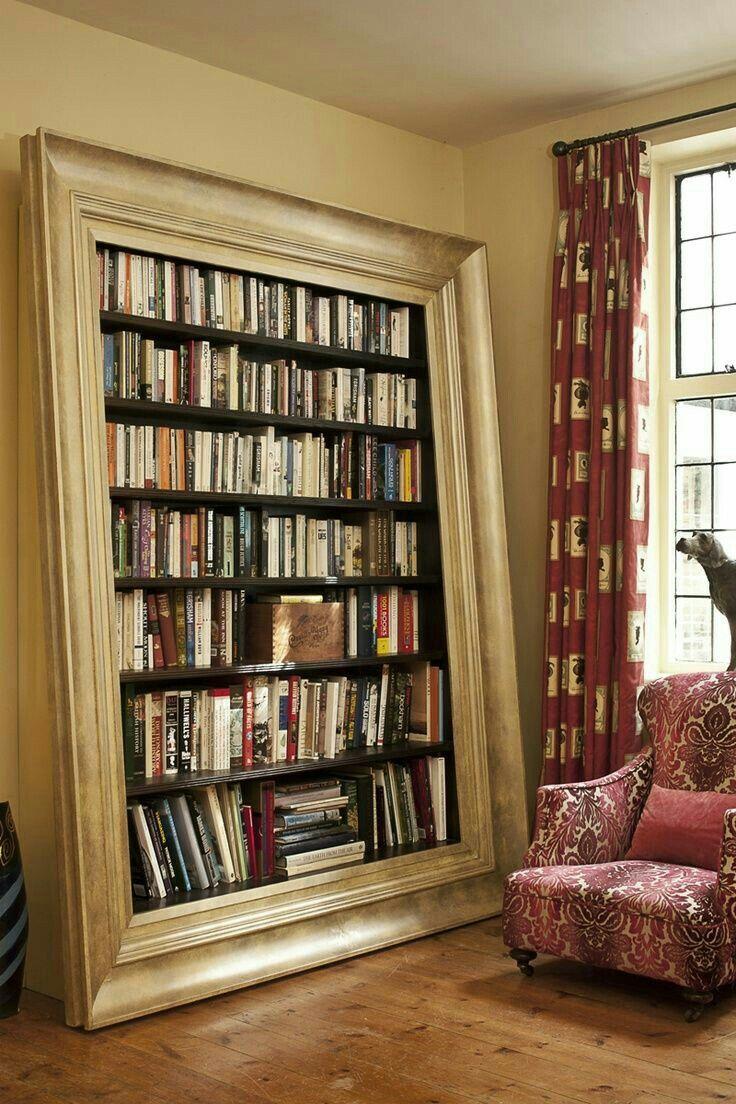 Unique Way To Frame Bookshelf Cool Bookshelves Home Home Deco