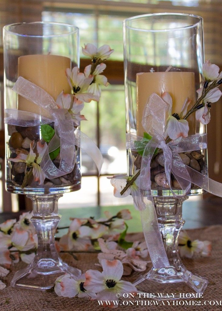 DIY Dollar Store Candle Holders
