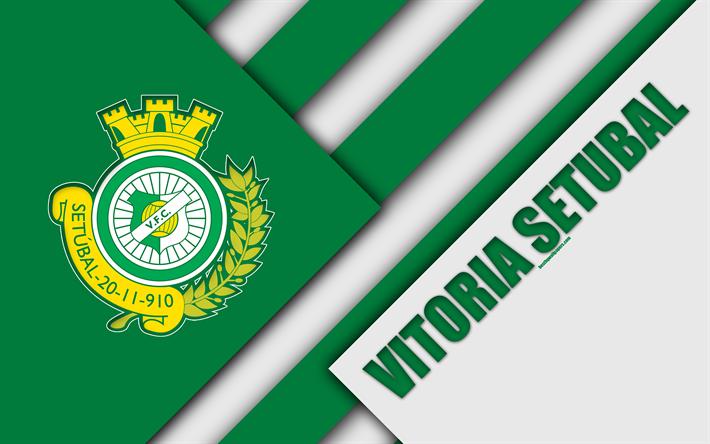 Download Wallpapers Vitoria Setubal Fc Portuguese Football Club K Vitoria Logo Material