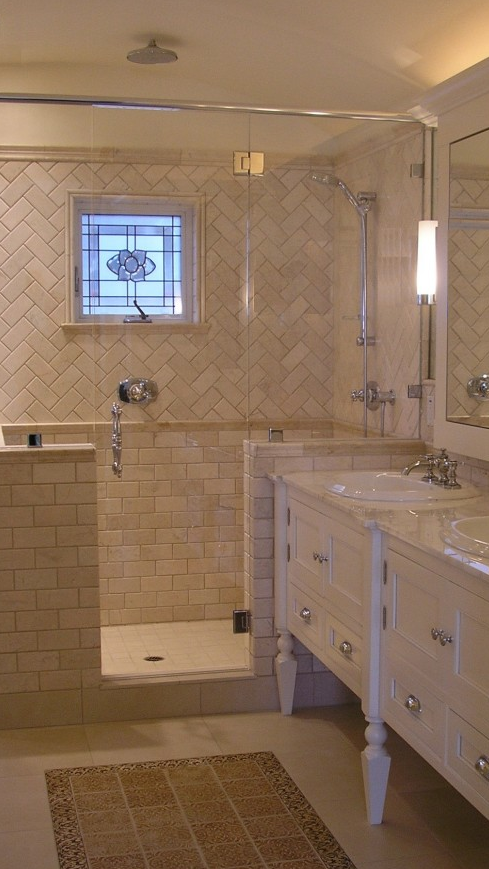 Love how this bath shower tile is designed & pretty sure this is ...