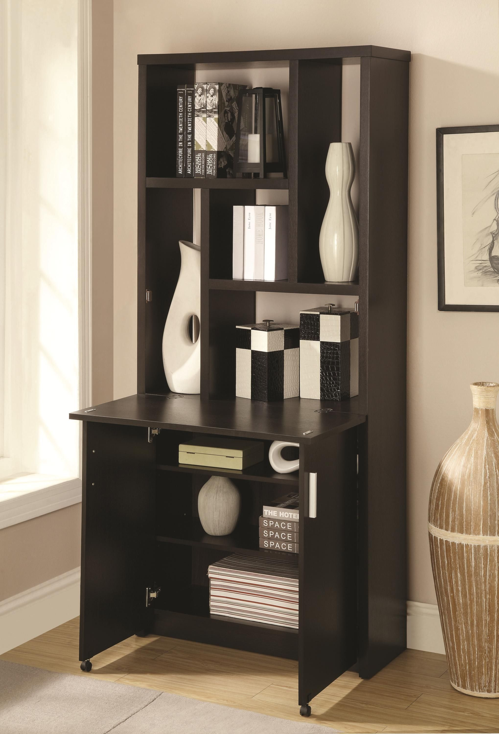 Stockholm Bookcase With Pull Out Desk