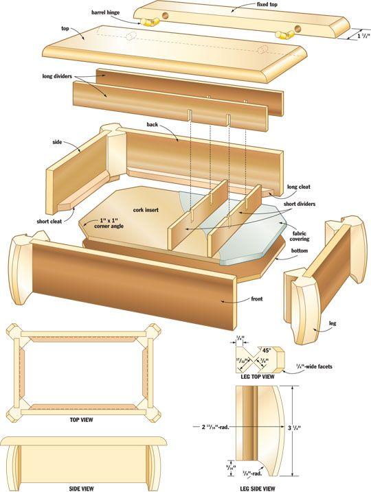 Make a jewelry box u2013 Canadian Home Workshop · Diy Wood ProjectsKids Woodworking ProjectsFree ...  sc 1 st  Pinterest & Make a jewelry box u2013 Canadian Home Workshop | woodshop ideas ... Aboutintivar.Com