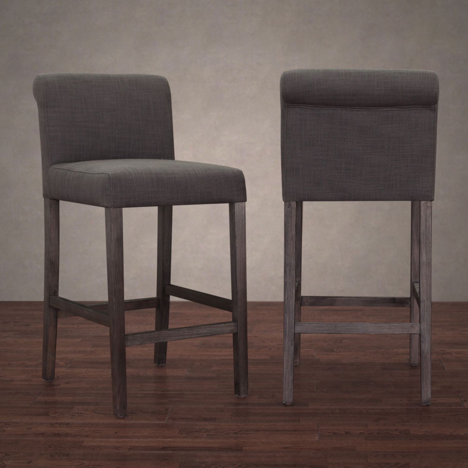 cosmopolitan smoke linen counter stool set of 2 by i love living
