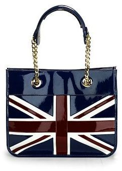 Aspinal of London Small Brit Tote, Navy
