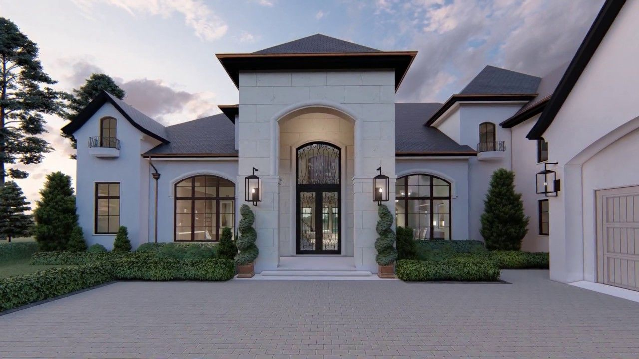 French Transitional French Cottage Exterior French Chateau Homes French Country House Plans