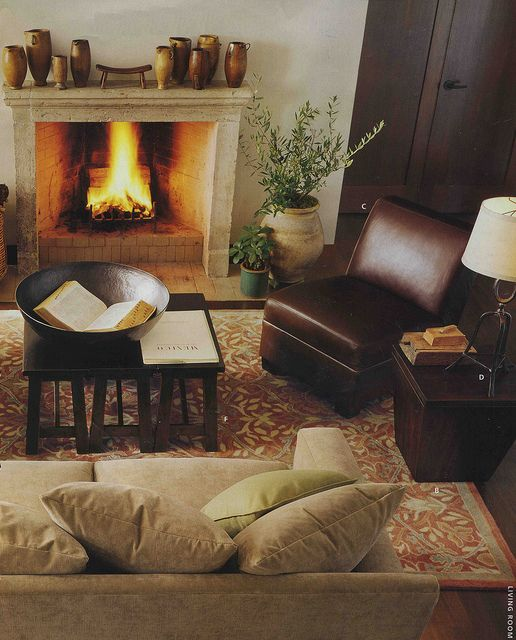 Pottery Barn... Love The Fireplace