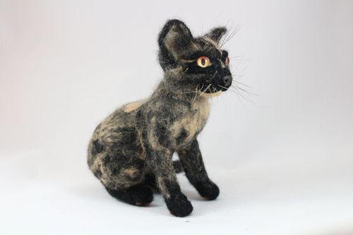 Custom Pet Portrait Miniature Tortoiseshell Cat sittingLittle Copy Your Pet Needle Felt Art Cat Doll