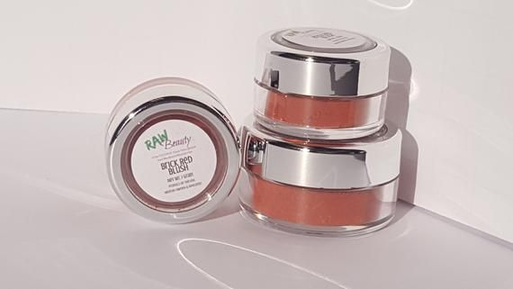Natural Blush Makeup | Vegan Makeup | Natural Makeup | Mineral Makeup | Red Eye Shadow | Red Blush | Raw Beauty Minerals