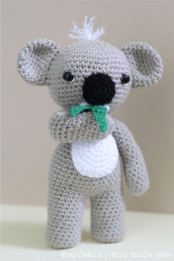 Crochet Amigurumi Koala Pattern KC Koala Cute par HelloYellowYarn ...