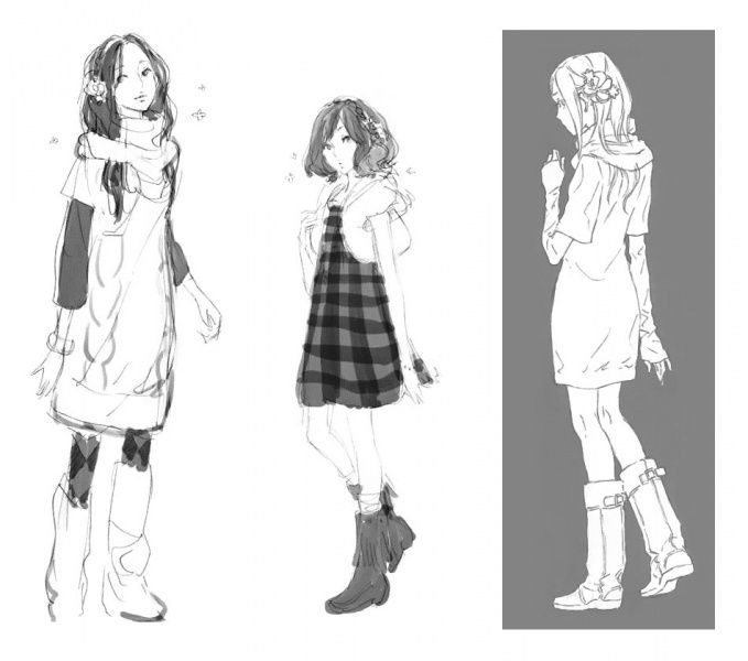 999 Vlr June Character Character Design Girl Sketches