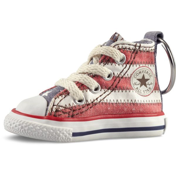 7a7be4ab115f7c Converse Chuck Taylor Sneaker Keychain – white red blue (965 ALL) ❤ liked  on Polyvore featuring accessories