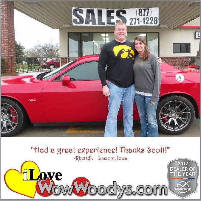 """""""5 Stars! Had a great experience! Thanks Scott!"""" Rhett B. Lamoni, Iowa"""