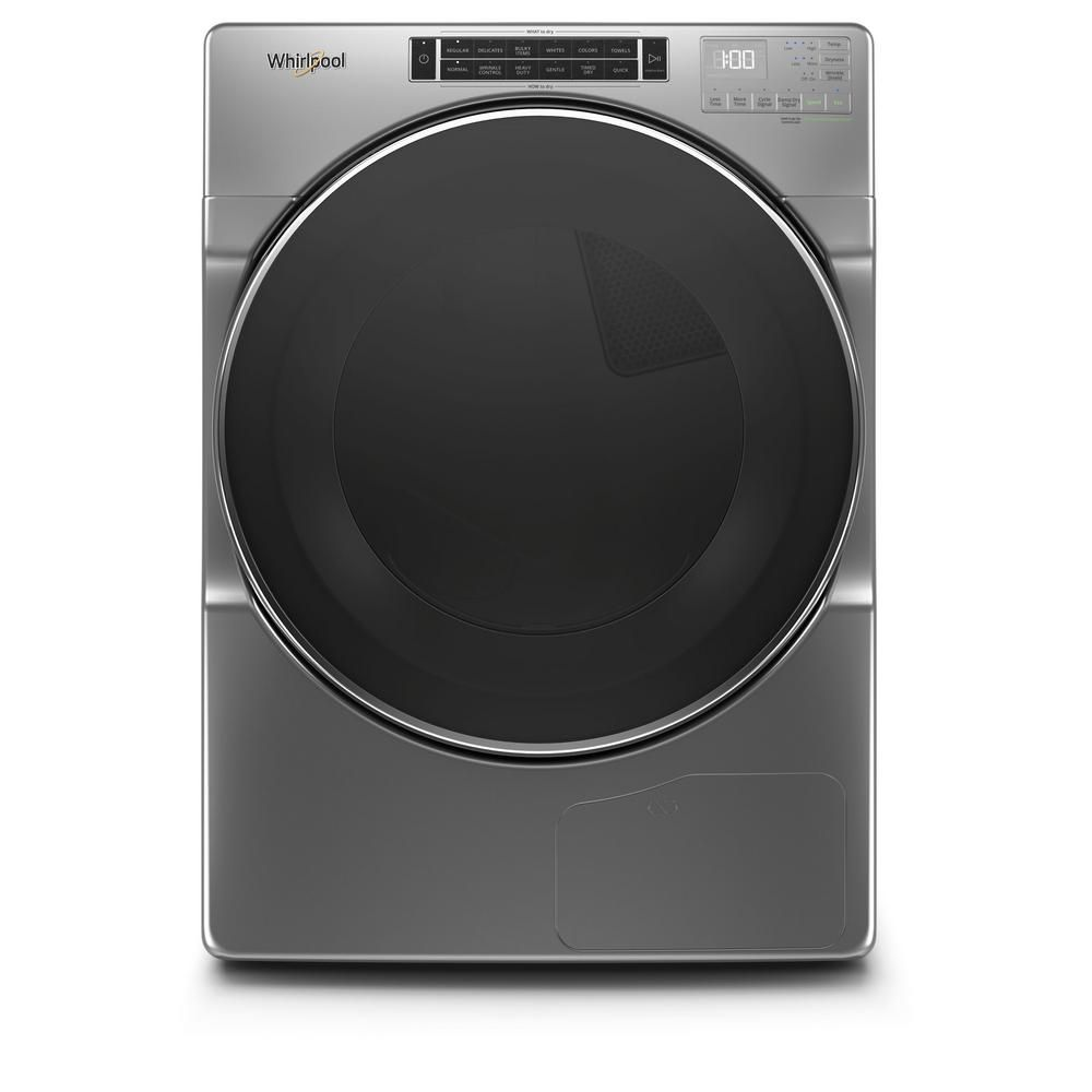 Whirlpool 7 4 Cu Ft 240 Volt Stackable Chrome Shadow Electric Ventless Dryer With Intuitive Touch Controls Energy Star Whd862chc The Home Depot In 2020 Electric Heat Pump Electric Dryers Ventless Dryer
