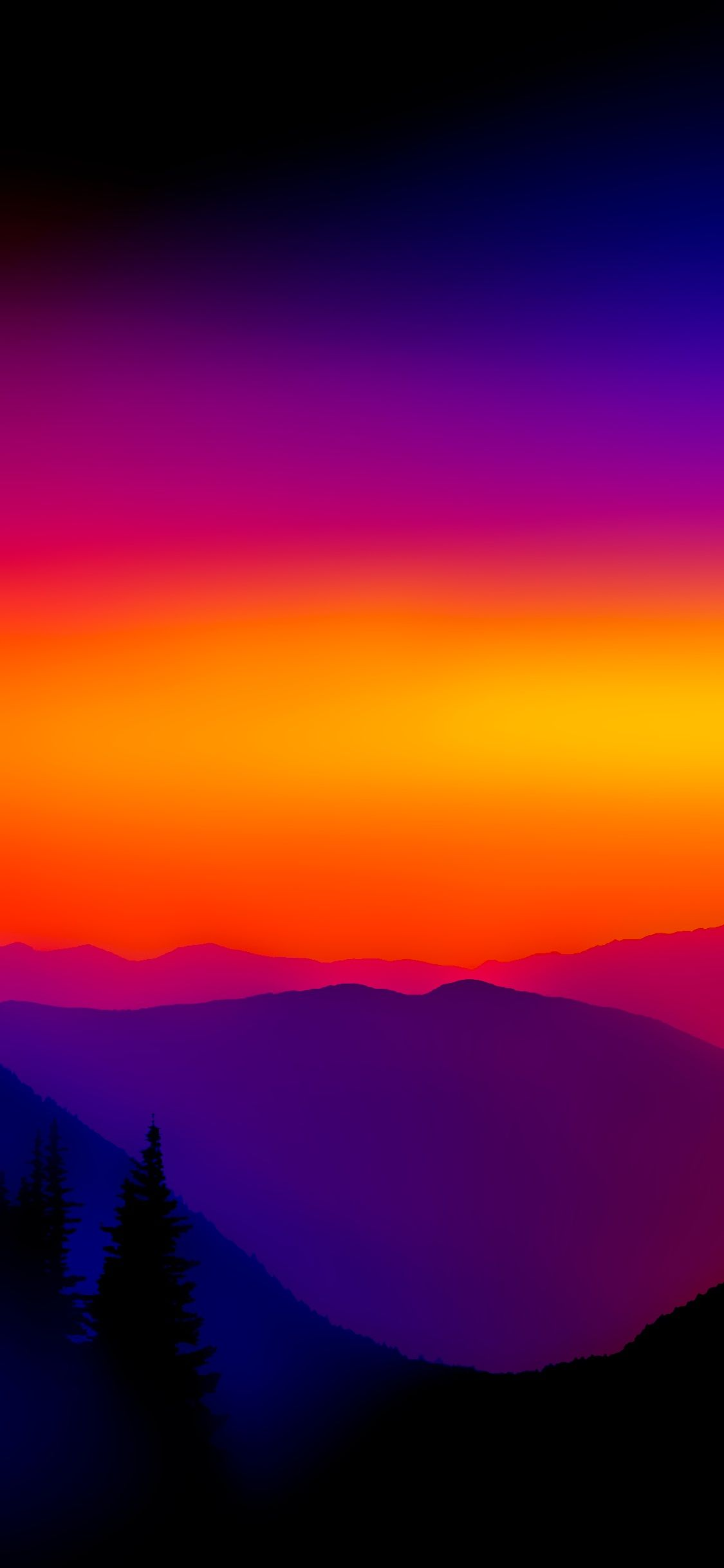 The colors of purple, pink, red and orange. Mkbhd