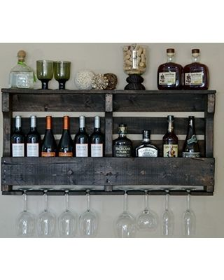 pallet wall wine rack. VinoGrotto Large Pallet Wall-Mounted Wine Rack . Wall W