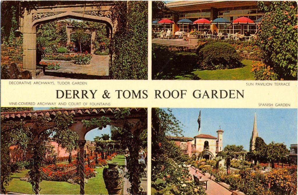 Kensington Roof Gardens The Roof Gardens Derry Toms Roof Garden Spanish Garden Derry