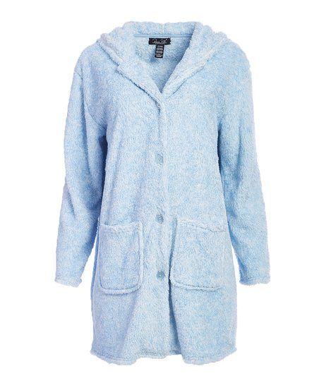 d192d55e938 René Rofé Blue Warm   Toasty Fleece Bed Jacket