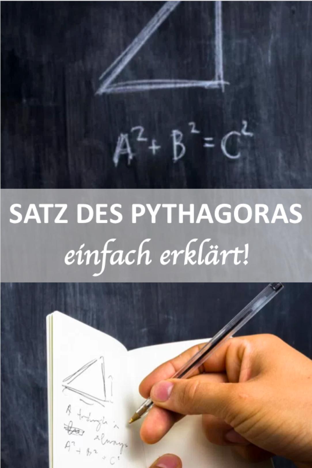 Satz Des Pythagoras Satz Des Pythagoras Mathe Formeln Einfache Satze