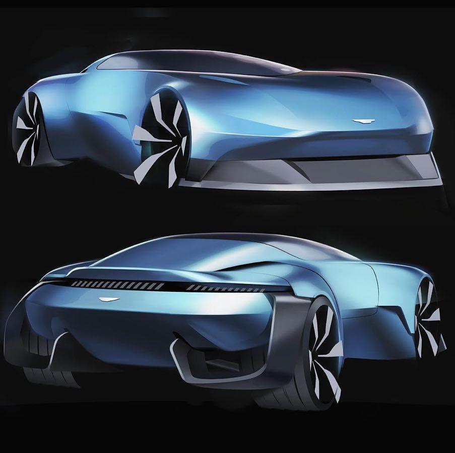 Aston Martin Sketch: Aston Martin Vesper By Songlin Jiang @vincent.jiang1992