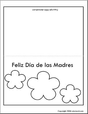 Greeting Card Mother's Day (Spanish) Tarjeta de dia de