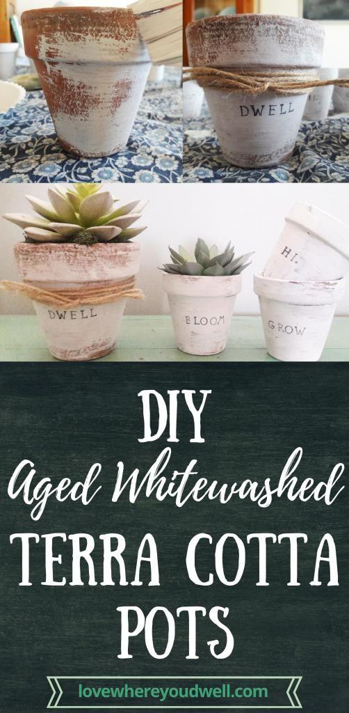 Diy Aged Terra Cotta Plant Pots Diy Flower Pots Diy Pots Terracotta Plant Pots