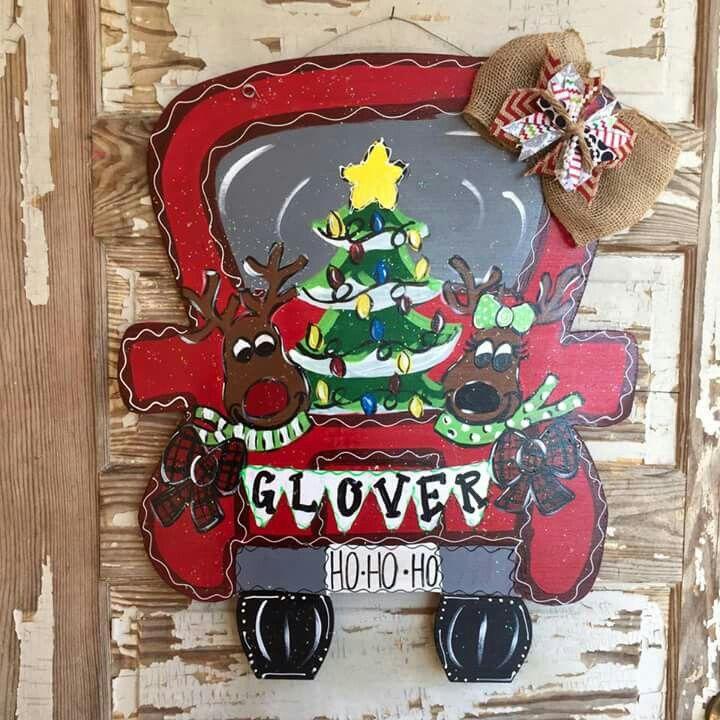 Hanger Christmas Tree Wood Signs Items