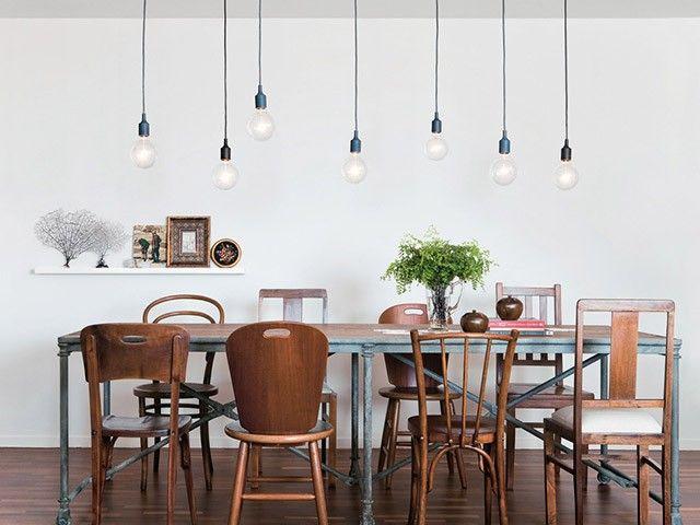 Des Chaises Dépareillées Deco Ambiance Pinterest Chaises - Table salle a manger originale pour idees de deco de cuisine