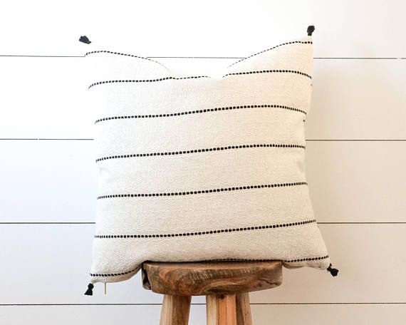 This Pillow Is Made Of Woven Off White Fabric With Dainty