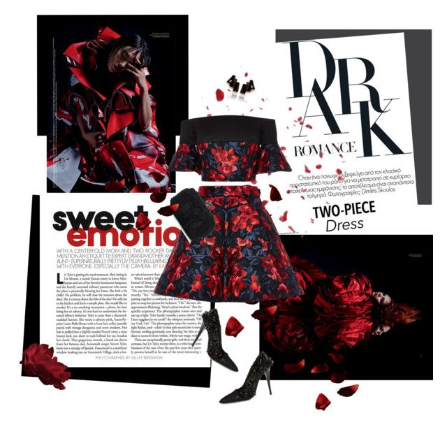 """Sweet surrender"" by iriadna ❤ liked on Polyvore featuring Delpozo, Emanuel Ungaro, Alexander McQueen, floralprints and TwopieceDress"