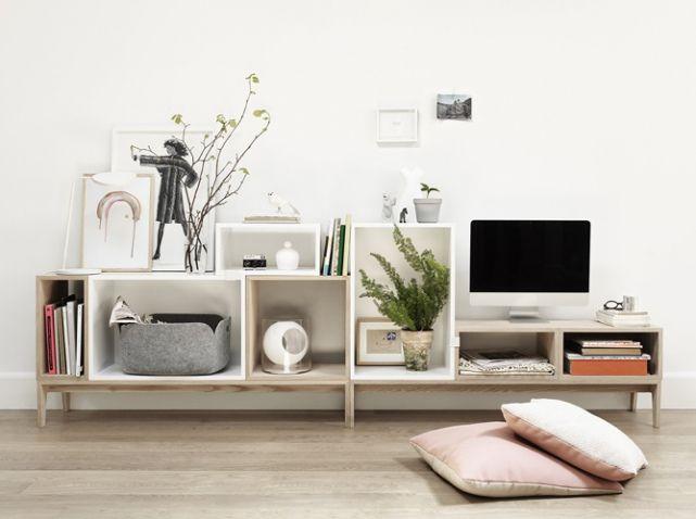 Rangement modulable muuto Home  Decor Pinterest - Meuble Tv Avec Rangement