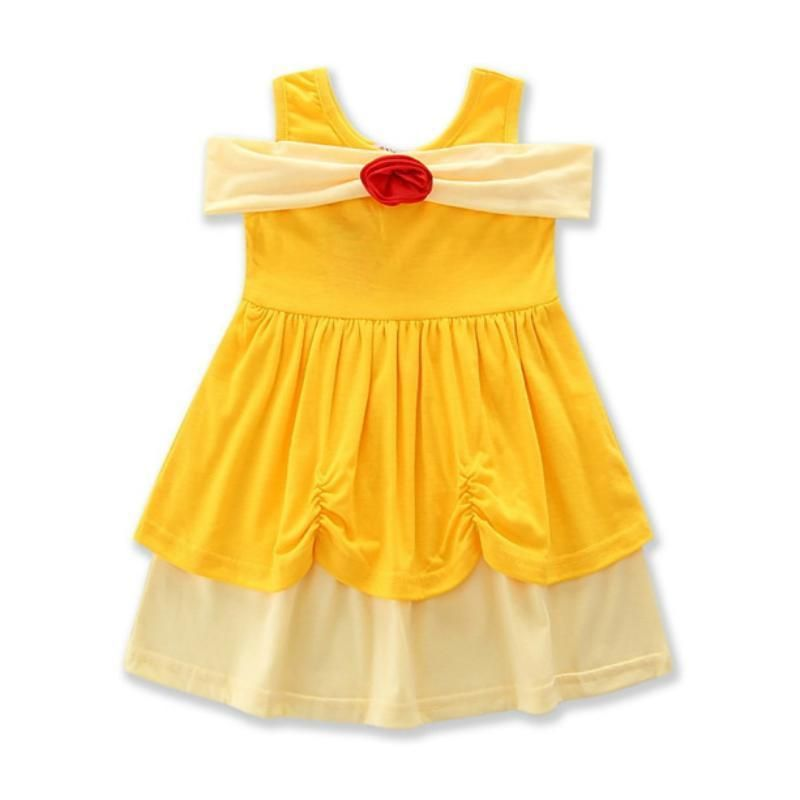 bf4b07638 2018 Summer Girls Snow White Belle Princess Dresses Kids Halloween ...