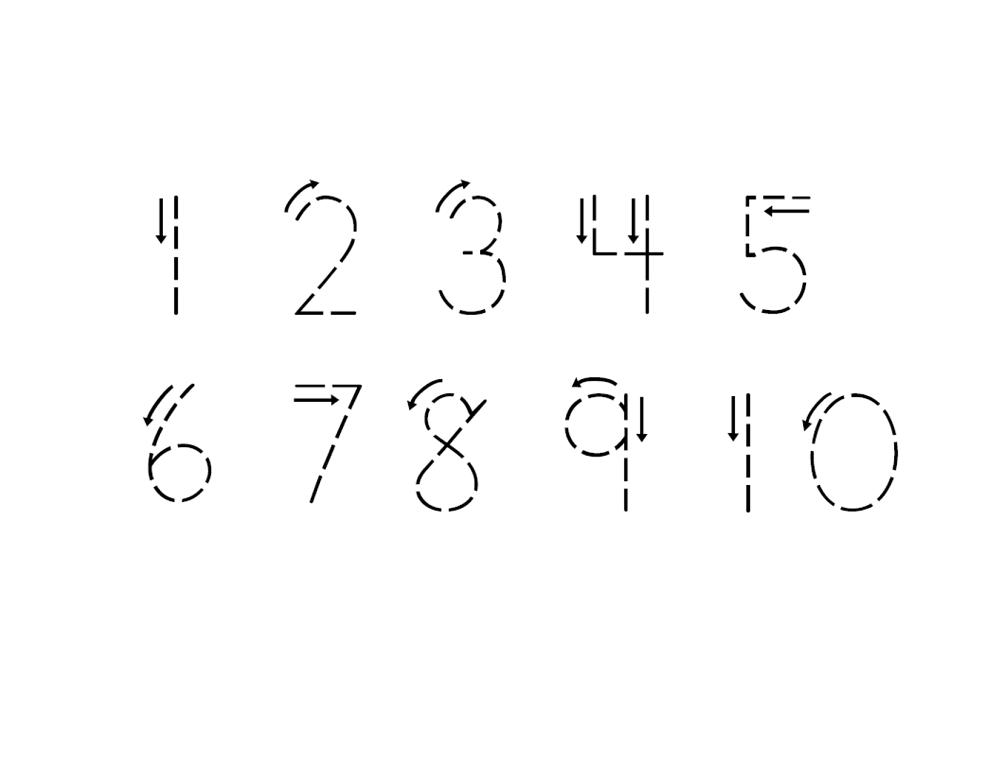 Trace Numbers 1 10 Best Tracing Numbers 1 10 Writing Numbers Free Preschool Worksheets