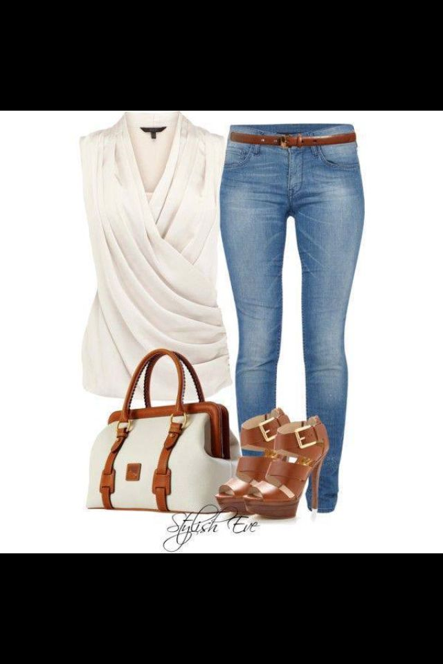 Simple casual denim & white