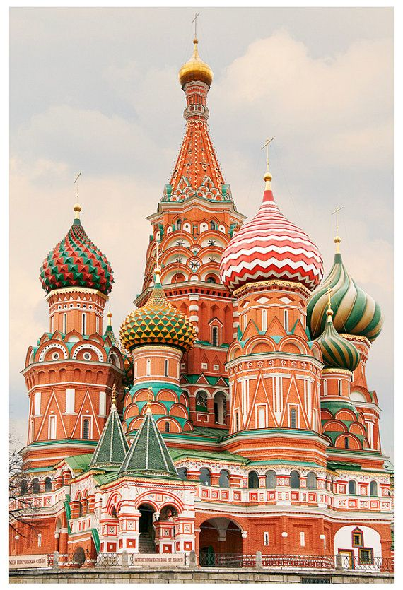 Moscow Poster Russian Church Art Print Architecture