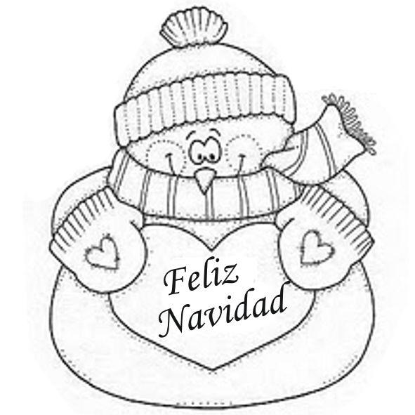 Dibujos Y Plantillas Para Imprimir Muñecos De Nieve