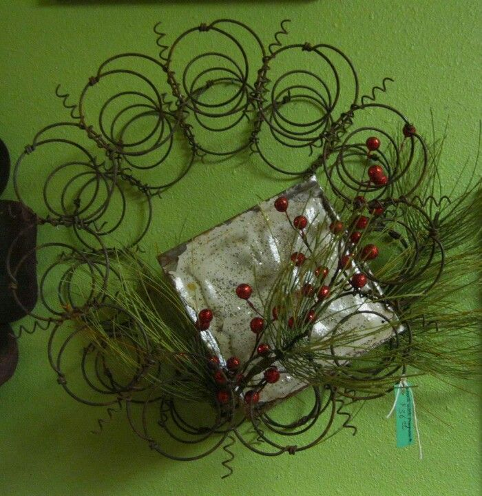 Wreath from old springs